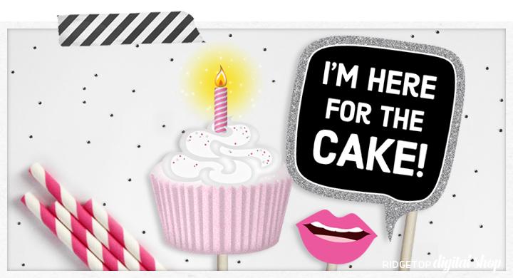 Ridgetop Digital Shop | Birthday Photo Booth Props
