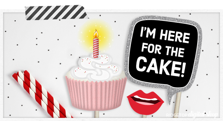 Ridgetop Digital Shop | Birthday Photo Booth Props | 11th Birthday Printables