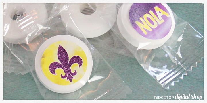 Ridgetop Digital Shop | Snapshot | Mardi Gras Candy Stickers Free Printable