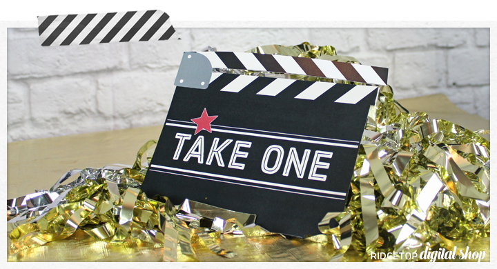 Ridgetop Digital Shop | Movie Theme Birthday Photo Props