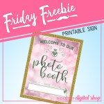 Friday Freebie: Dusty Pink and Sage Wedding Photo Booth Sign