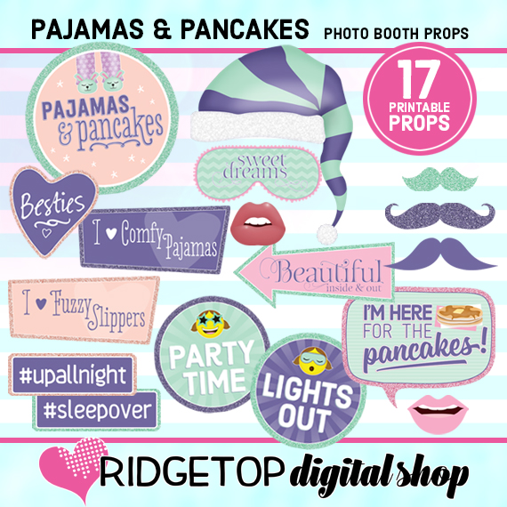 Ridgetop Digital Shop   Pajamas and Pancakes Photo Props