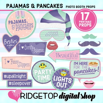 Ridgetop Digital Shop | Pajamas and Pancakes Photo Props