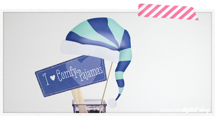 Ridgetop Digital Shop | Pajamas and Pancakes Photo Props | Pancakes and Pajamas Party | Photo Booth Props