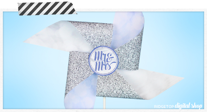 Ridgetop Digital Shop | Victorian Lilac Wedding Pinwheel | Free Wedding Printable