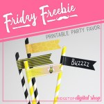 Friday Freebie: Bee Straw Flags