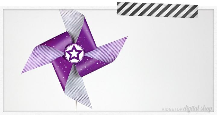 Ridgetop Digital Shop   Purple Pinwheel Printable   Free Wedding Printable   Purple Party Theme   Bachelorette Party