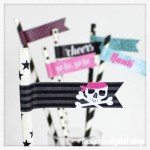 Pirate Straw Flags Free Printable