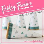 Friday Freebie: Turquoise Heart Cone Wrapper