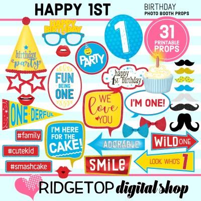 Ridgetop Digital Shop   1st birthday party printable
