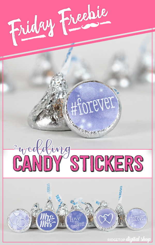 Ridgetop Digital Shop | Victorian Lilac Wedding Candy Stickers | Wedding Favor | Hershey Kiss Stickers | Printable Freebie