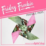 Friday Freebie: Camo Pinwheel