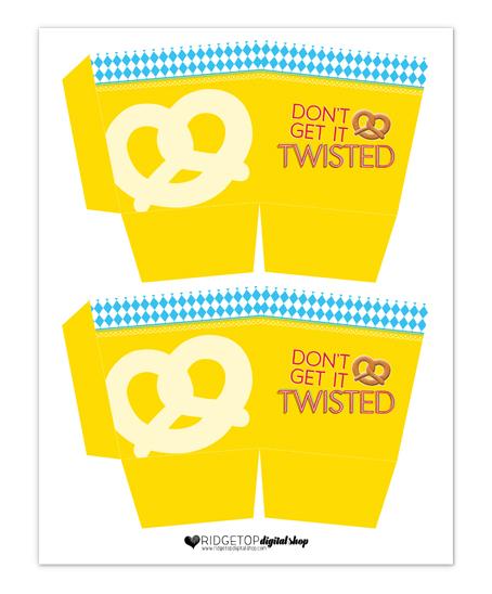 Ridgetop Digital Shop | Free Printable | Oktoberfest Pretzel Box | Snapshot Newsletter