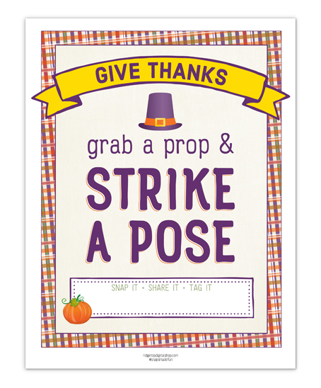 Ridgetop Digital Shop | Friday Freebie | Thanksgiving Photo Booth Sign | Instant Download Printable