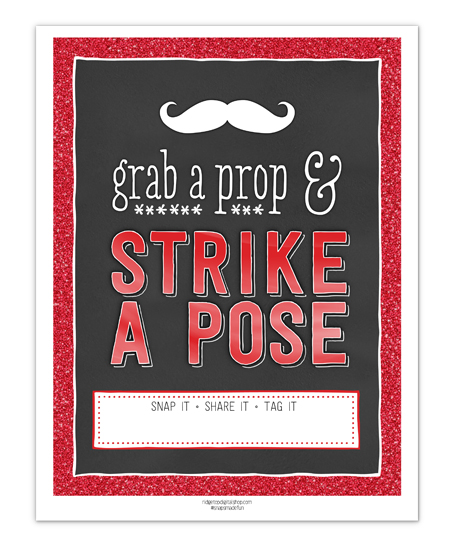 Ridgetop Digital Shop | Friday Freebie | Red Photo Booth Sign | Free Printable