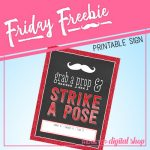 Friday Freebie: Red Photo Booth Sign