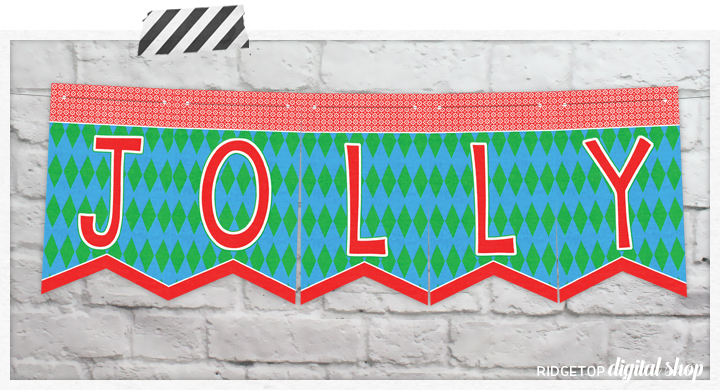 Ridgetop Digital Shop | Friday Freebie | Ugly Sweater Party Free Printable Banner | Jolly