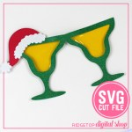 Christmas Margarita Glasses
