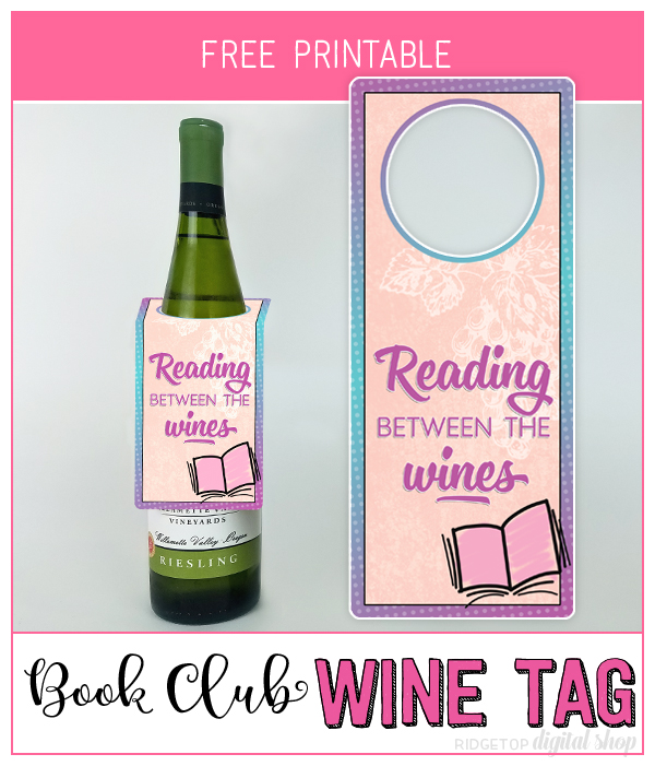 Book Club Printable | Wine Tag Printable | Snapshot | Ridgetop Digital Shop | Free Printable
