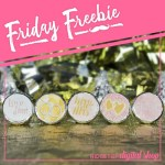 Rose Gold Candy Stickers Free Printable