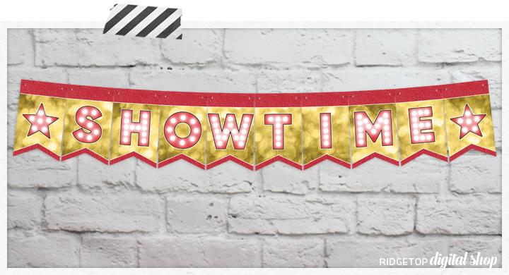 Friday Freebie: Movie Night Printable Banner   Ridgetop Digital Shop