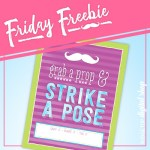 Friday Freebie: Lime and Orchid Photo Booth Sign