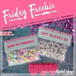 Friday Freebie: Valentine Treat Bag Topper Printable