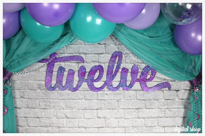 Birthday Age Foam Wall Decor How To   12th Birthday Party Idea   Glitter Photo Backdrop   Ridgetop Digital Shop