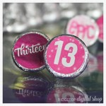 13th Birthday Candy Stickers free printable – pink