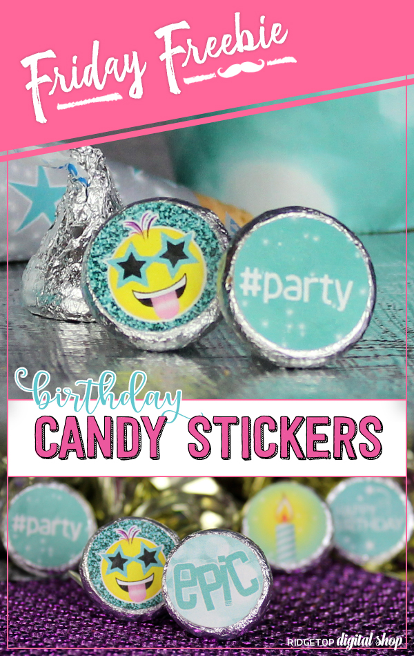 Candy Stickers Free Printable | Turquoise Birthday Printable | Tiffany Blue | Ridgetop Digital Shop