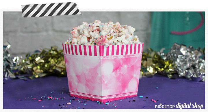 Snack Box Free Printable   Pink Party Printable   Ridgetop Digital Shop