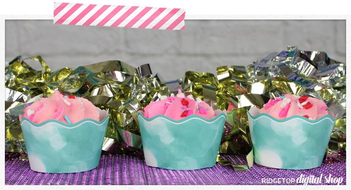 Turquoise Cupcake Wrapper Printable   Turquoise Party Decor Free Printable   Ridgetop Digital Shop