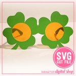 Shamrock Glasses SVG