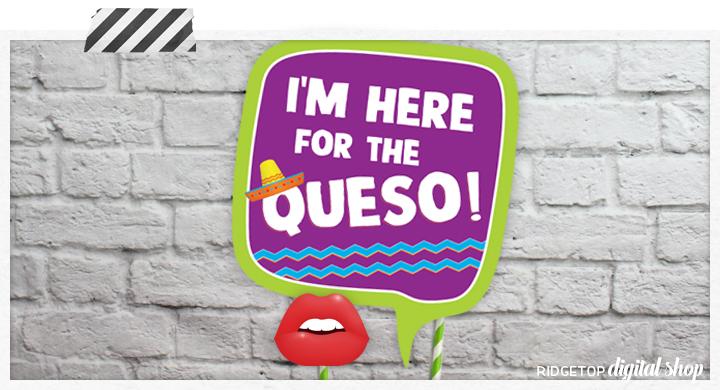 Taco Tuesday Printable Photo Booth Props | Ridgetop Digital Shop