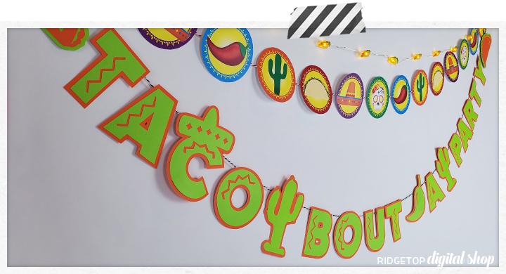 Taco Bout a Party Banner SVG | Taco Tuesday | Cinco de Mayo | Mexico |  Fiesta | Ridgetop Digital Shop