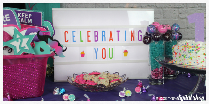 Super Sweet 12th Birthday Party | light box | celebrating you | Ridgetop Digital Shop