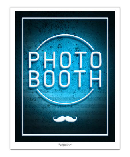 Neon Photo Booth Sign Free Printable | Ridgetop Digital Shop