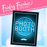 Neon Photo Booth Sign Free Printable