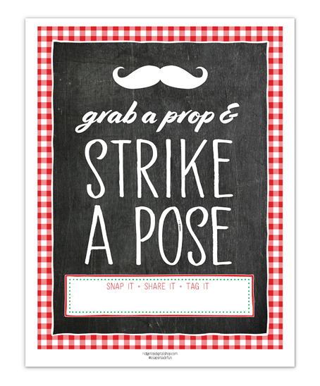 Pizza Party Photo Booth Sign Free Printable | Ridgetop Digital Shop
