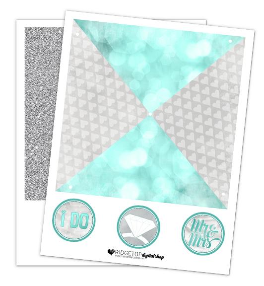 Turquoise Wedding Free Printable Pinwheel | Ridgetop Digital Shop