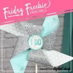 Turquoise Wedding Free Printable Pinwheel