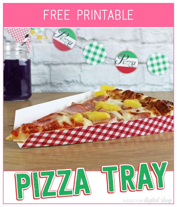 Pizza Party Tray Free Printable   Pizza Tray Printable   Pizza Party Decor   Pizza Theme   End of Season party   Sports party   Friday Family Pizza Night   Ridgetop Digital Shop