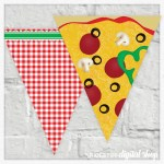 Pizza Party Banner Free Printable