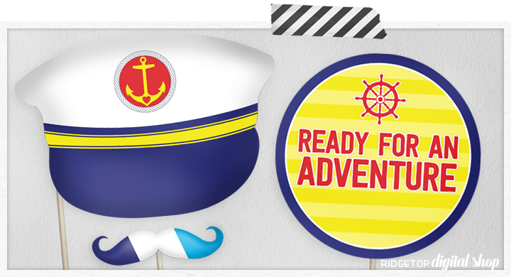 Nautical Party | Ready for an Adventure | Captain Hat | Ridgetop Digital Shop