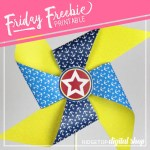 Nautical Party Free Printable Pinwheel