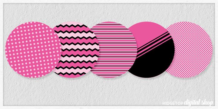 Pink Party Circles Free Printable | Ridgetop Digital Shop