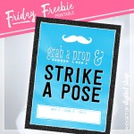 Blue Photo Booth Sign Free Printable