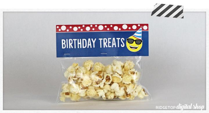 Birthday Emoji Treat Bag Topper Free Printable   Ridgetop Digital Shop