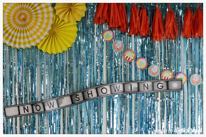 50's Movie Night Photo Booth Backdrop | Ridgetop Digital Shop