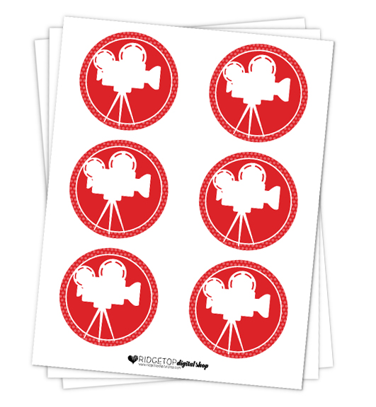 Movie Party Circles Free Printable | Ridgetop Digital Shop